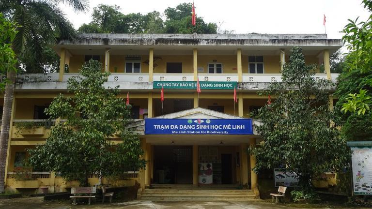 "The entrance to the ""Me Linh Station for Biodiversity"" in northern Vietnam. It is run by the Institute for Ecology and Biological Resources (IEBR) in Hanoi. The Cologne Zoo supports the station with staff and financing.   