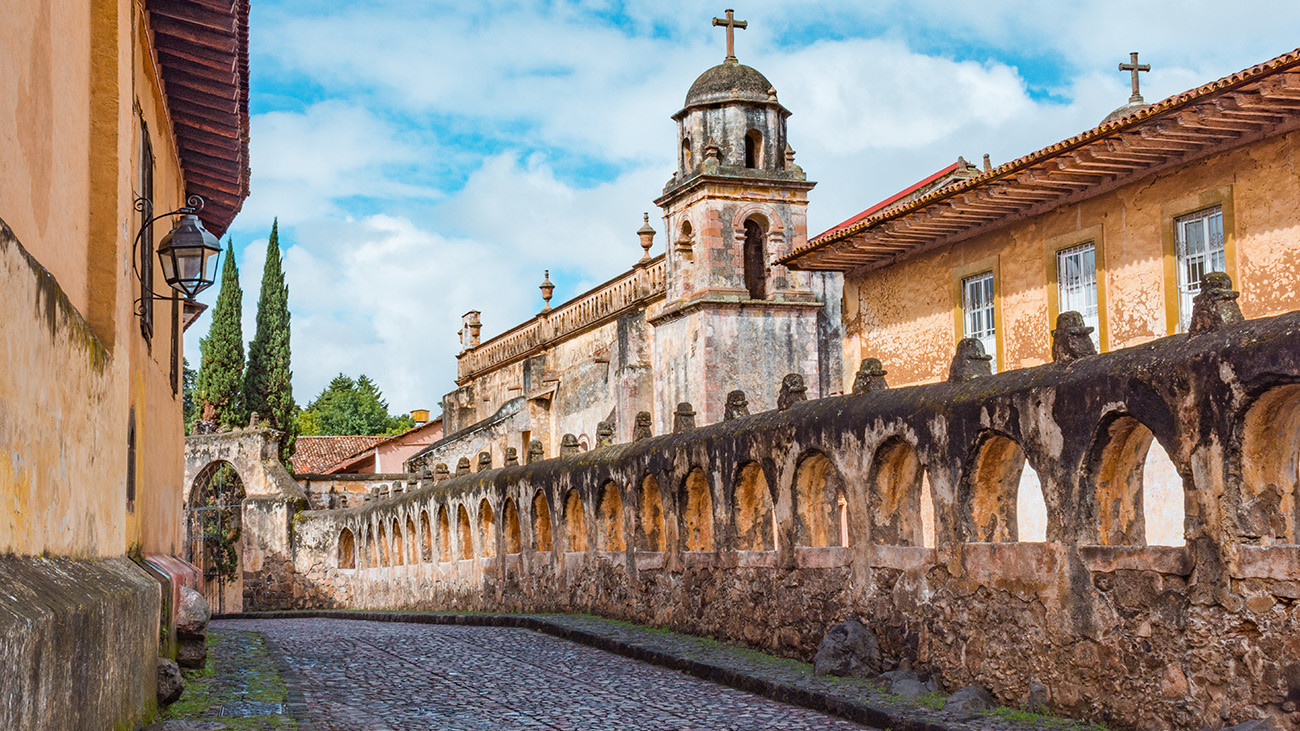 Templo de Sagrario in Pátzcuaro – both an order of Dominican nuns and the Lake Pátzcuaro Salamander found refuge within these walls. | Rubi Rodriguez Martinez, Shutterstock