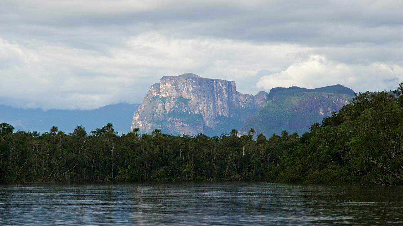 Die Tepui-Landschaft am Orinoko: leider keine vergessene Welt. Am Cerro Yapacana wird nach Gold gesucht. | Alejandro Solo, Shutterstock