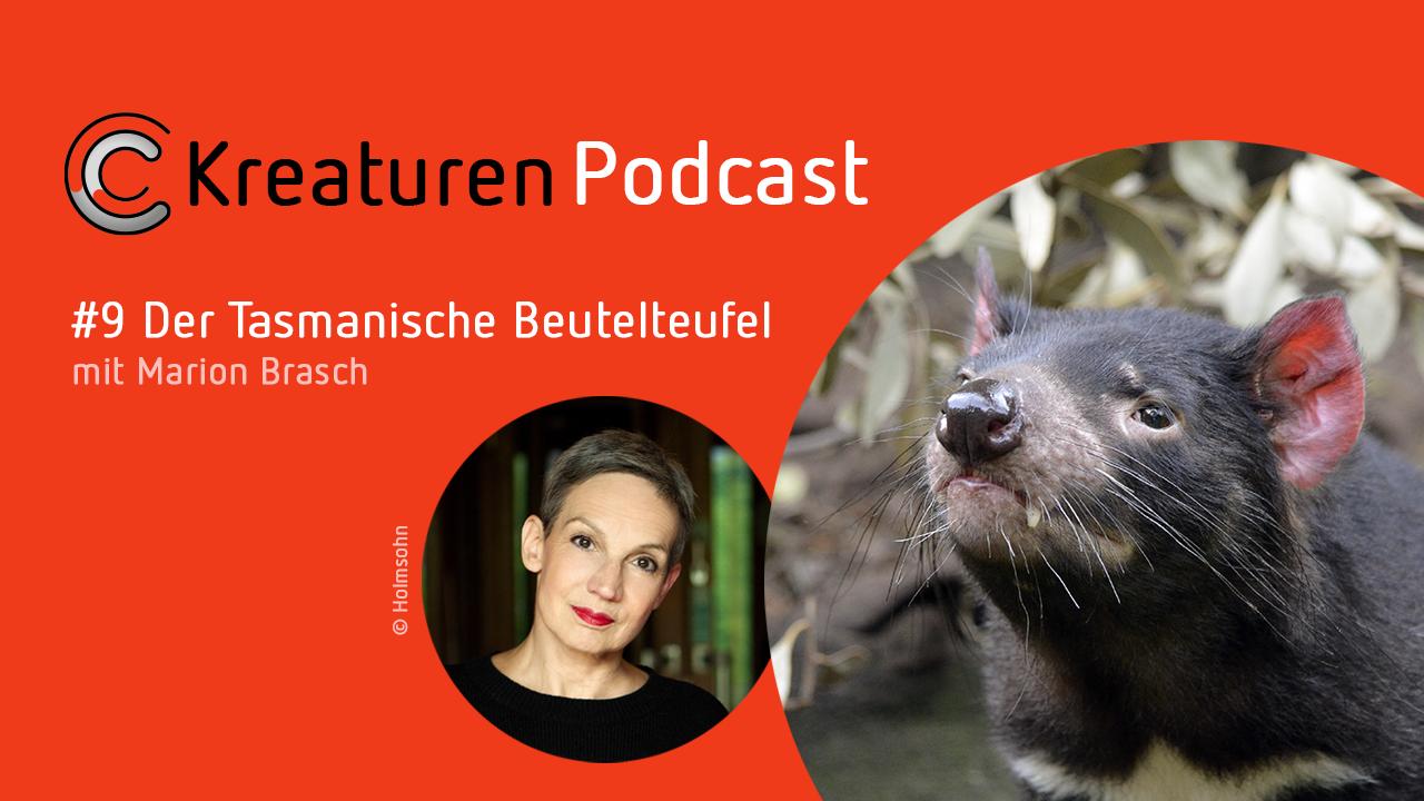 In Folge 9 präsentiert Schriftstellerin und Moderatorin Marion Brasch den Tasmanischen Beutelteufel. Der ist sowas wie der Wutbürger unter den Tieren und doch auch sehr sympathisch.