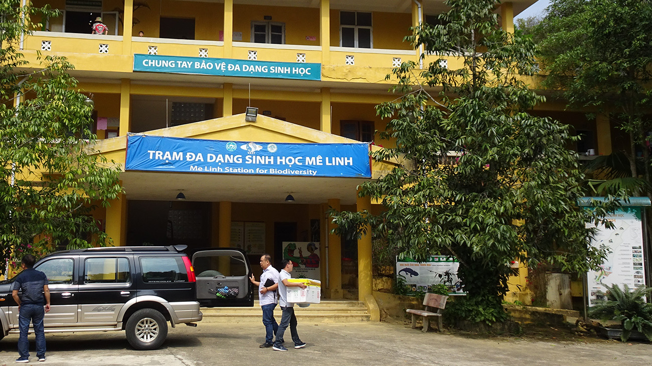 Arrival at the Melinh Station for Biodiversity in north Vietnam | Melinh Station